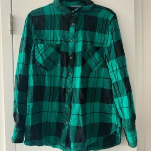 Green and Black Plaid Flannel!